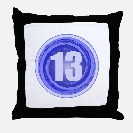 13th Birthday Boy Throw Pillow