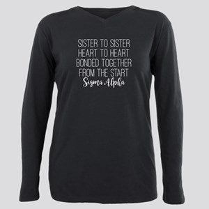 Sigma Alpha Sister to Si Plus Size Long Sleeve Tee