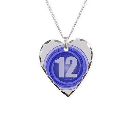 12th Birthday Boy Necklace Heart Charm