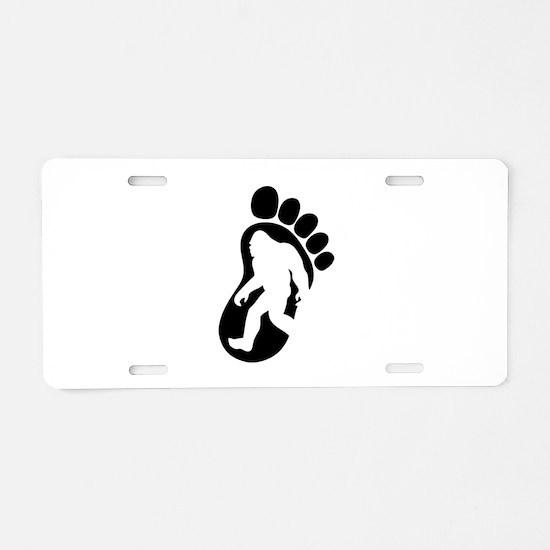 Yeti Footprint Aluminum License Plate