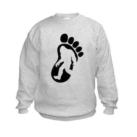 Yeti Footprint Kids Sweatshirt