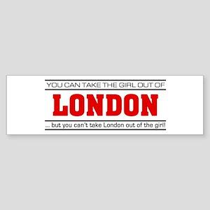 'Girl From London' Sticker (Bumper)