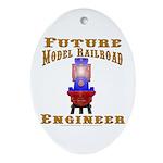 Future Train Engineer Ornament (Oval)