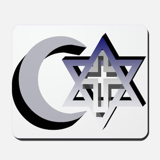 Three Faiths Mousepad
