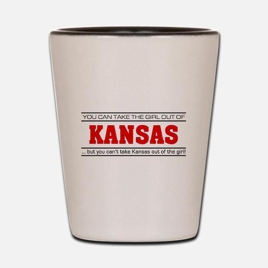 'Girl From Kansas' Shot Glass