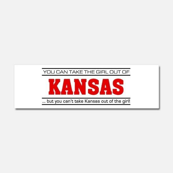 'Girl From Kansas' Car Magnet 10 x 3