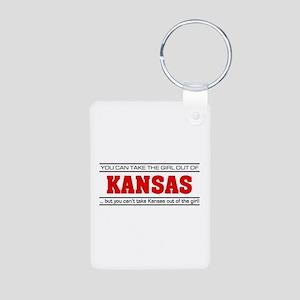 'Girl From Kansas' Aluminum Photo Keychain