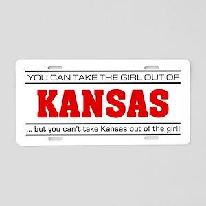 'Girl From Kansas' Aluminum License Plate