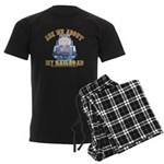 Ask Me About My Railroad Men's Dark Pajamas
