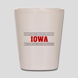 'Girl From Iowa' Shot Glass