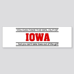 'Girl From Iowa' Sticker (Bumper)
