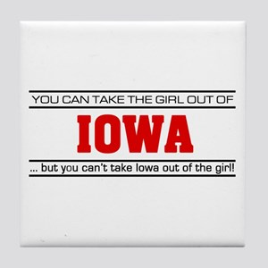 'Girl From Iowa' Tile Coaster