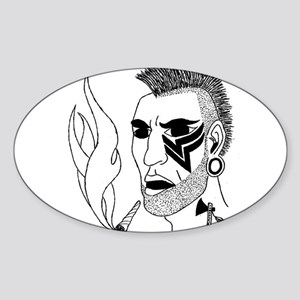 Modern Day Mohawk Sticker (Oval)
