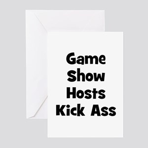 Game Show Hosts Kick Ass Greeting Cards (Package o