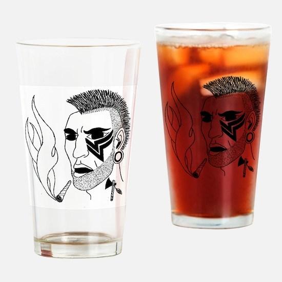 Modern Day Mohawk Drinking Glass