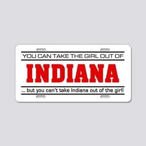 'Girl From Indiana' Aluminum License Plate