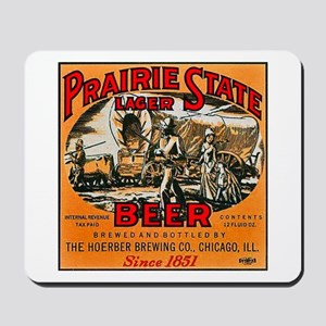 Illinois Beer Label 2 Mousepad