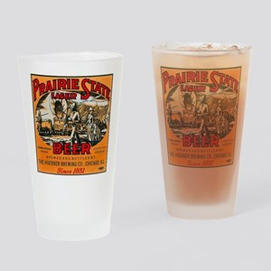 Illinois Beer Label 2 Drinking Glass