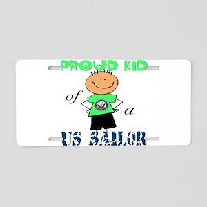 Proud Kid of Sailor Aluminum License Plate