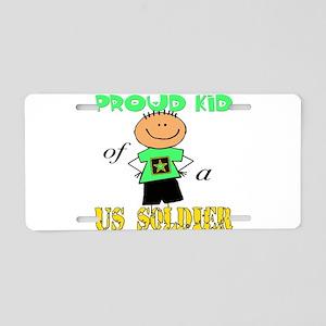 Proud Kid of Soldier Aluminum License Plate