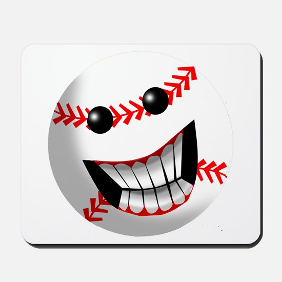 Baseball Smiley Face Mousepad