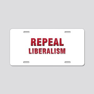 Repeal 3 Red Aluminum License Plate