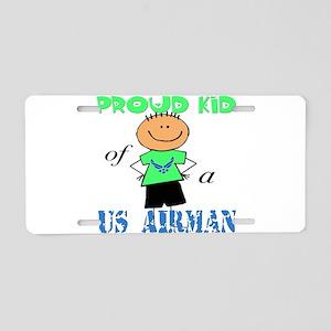 Proud Kid of Airman Aluminum License Plate