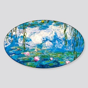 Monet - Nympheas Sticker (Oval)