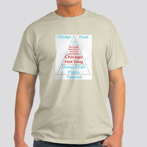 Chicago Food Pyramid Light T-Shirt