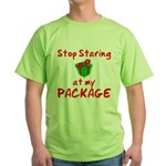 Stop Staring Green T-Shirt