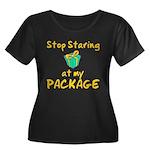 Stop Staring Women's Plus Size Scoop Neck Dark T-S