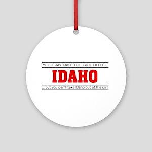 'Girl From Idaho' Ornament (Round)