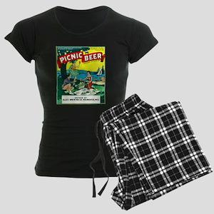 Wisconsin Beer Label 15 Women's Dark Pajamas