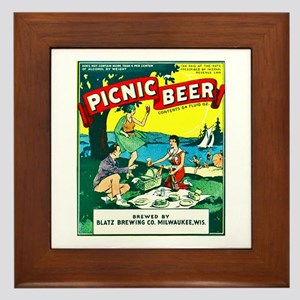 Wisconsin Beer Label 15 Framed Tile