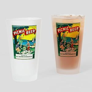 Wisconsin Beer Label 15 Drinking Glass