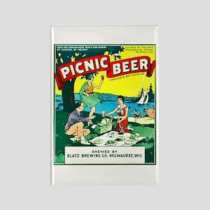 Wisconsin Beer Label 15 Rectangle Magnet