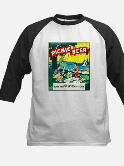 Wisconsin Beer Label 15 Kids Baseball Jersey
