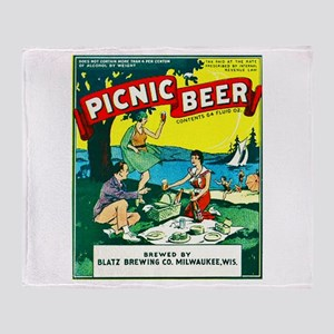 Wisconsin Beer Label 15 Throw Blanket