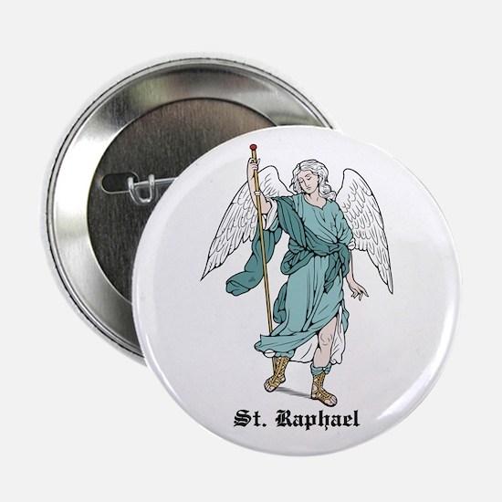 """St. Raphael 2.25"""" Button (10 pack)"""