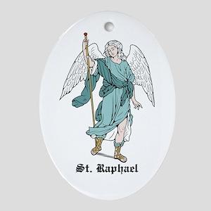 St. Raphael Oval Ornament