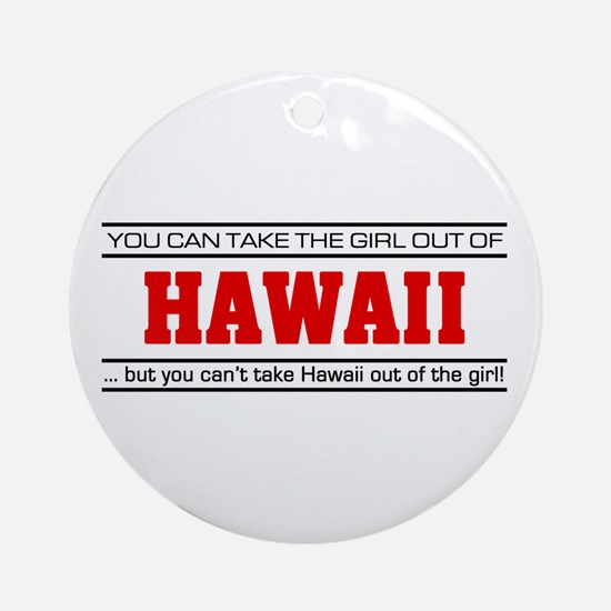 'Girl From Hawaii' Ornament (Round)