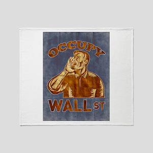 Occupy Wall Street Throw Blanket