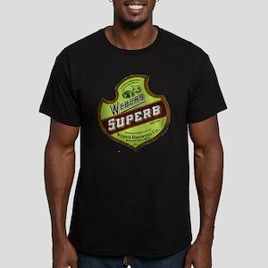 Wisconsin Beer Label 8 Men's Fitted T-Shirt (dark)