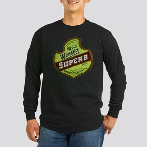 Wisconsin Beer Label 8 Long Sleeve Dark T-Shirt