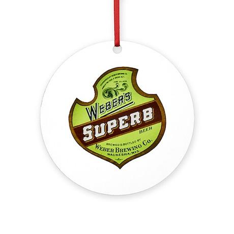 Wisconsin Beer Label 8 Ornament (Round)