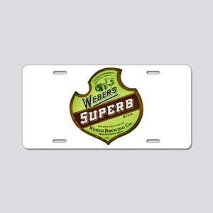 Wisconsin Beer Label 8 Aluminum License Plate