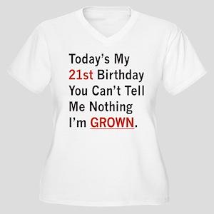 I'm GROWN! Women's Plus Size V-Neck T-Shirt