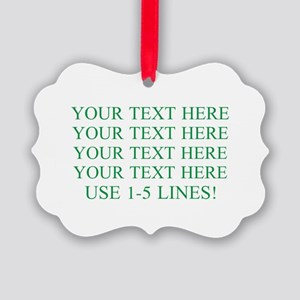 Customized Personalized Green Picture Ornament