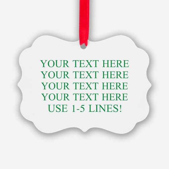 Customized Personalized Green Ornament