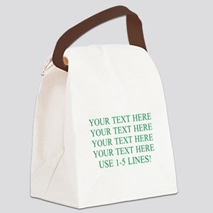 Customized Personalized Green Canvas Lunch Bag